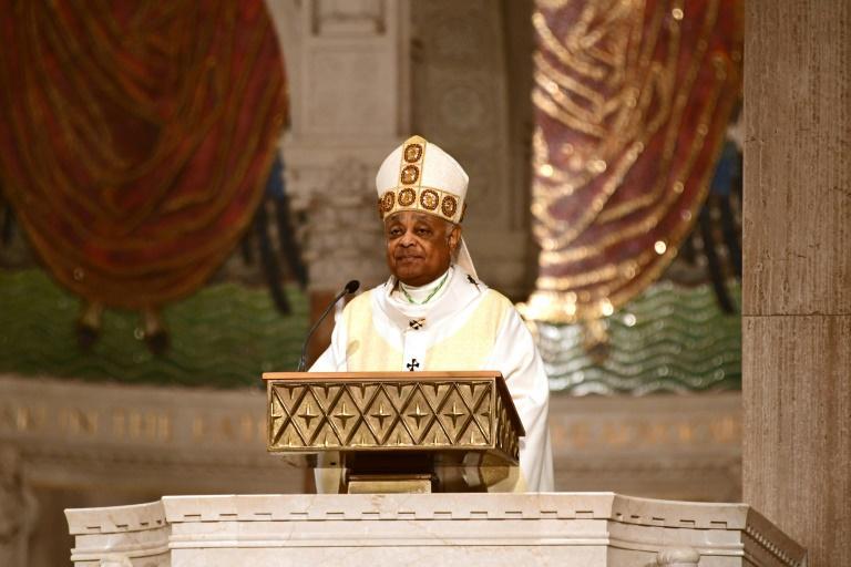 O arcebispo de Washington, Wilton Gregory, em imagem de 12 de abril de 2020 na capital dos Estados Unidos