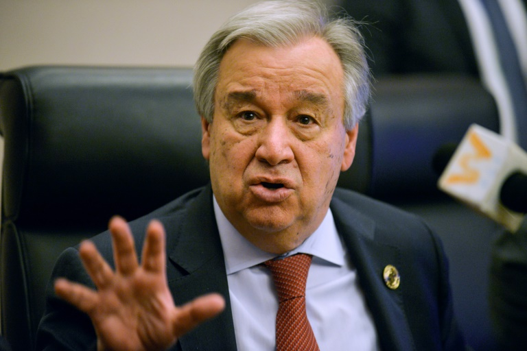 O secretário-geral da ONU, António Guterres, em 8 de fevereiro de 2020