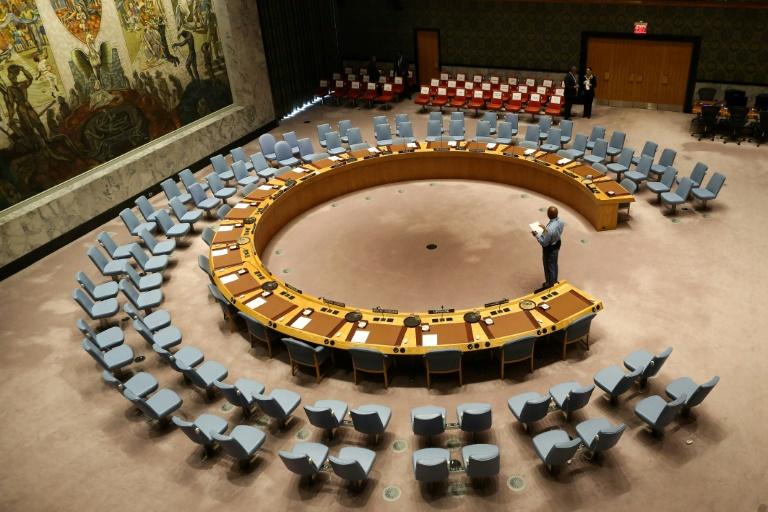 Sala de sessões do Conselho de Segurança da ONU, em 20 de setembro de 2017