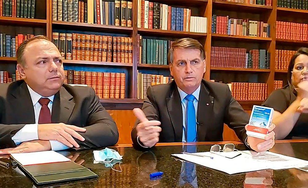 Bolsonaro incentivou uso de medicamento sem comprovação  científica