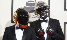 (Arquivo) No 56º Grammy, Daft Punk concorreu com o álbum 'Random access memories' a Melhor Álbum do Ano (Robyn Beck/AFP)