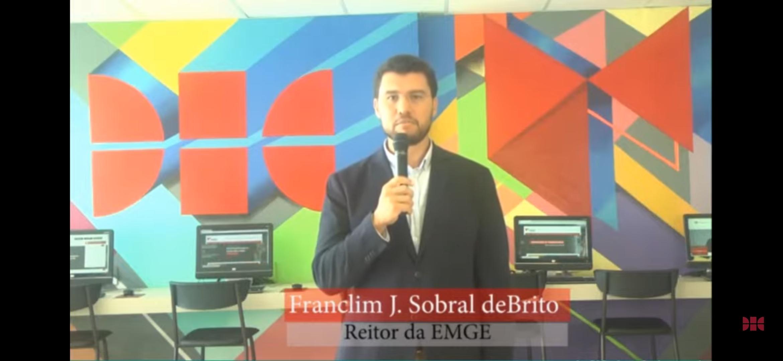 Reitor Franclim Sobral de Brito, da EMGE Escola de Engenharia e Computação