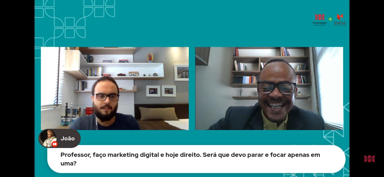 Professores Pedro Esteves e Rogério Vieira respondem dúvidas dos estudantes
