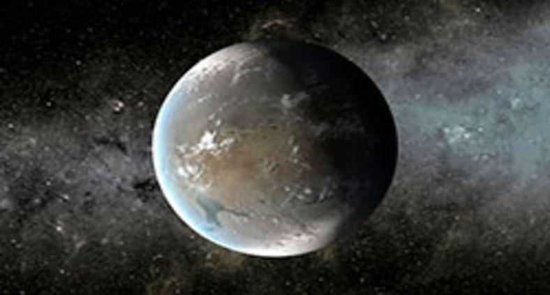 Impressão artística de uma Super-Terra, uma classe de planeta que tem muitas vezes a massa da Terra, mas menos do que um planeta do tamanho de Urano ou Netuno (Nasa/Ames/JPL-Caltech)