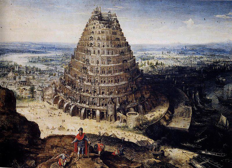 A Torre de Babel, pintura de Lucas van Valckenborch