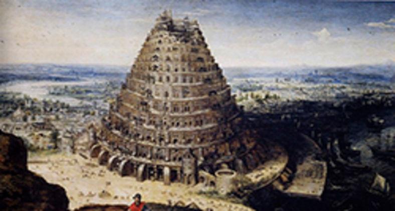 A Torre de Babel, pintura de Lucas van Valckenborch (Grandes énigmes de l'humanité - éditions Larousse)
