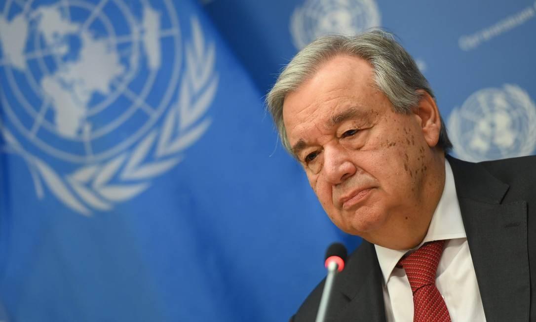 O secretário-geral da ONU, o português Antonio Guterres