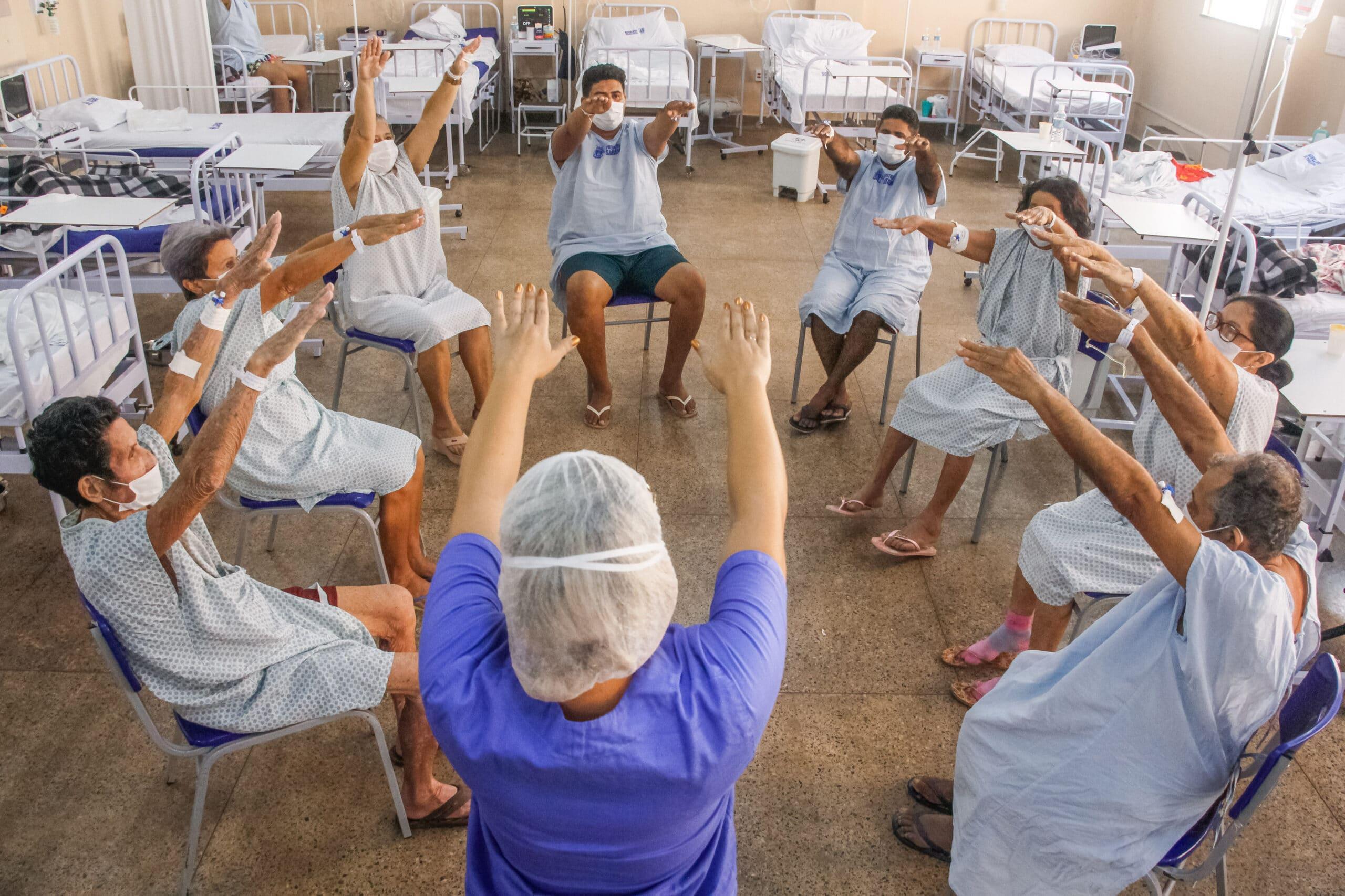 Em Santarém, fisioterapia recreativa auxilia na recuperação de pacientes com Covid-19