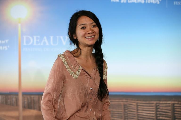 A diretora chinesa Chloé Zhao durante lançamento do filme 'Songs my brothers taught me'