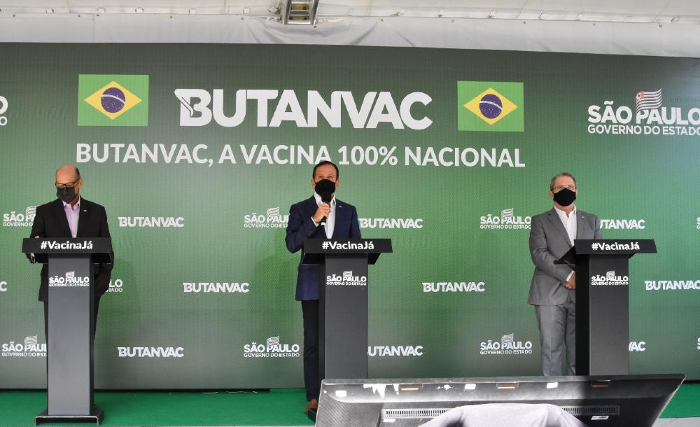 Governador de São Paulo João Doria anunciou que o Instituto Butantan desenvolveu uma nova vacina brasileira contra a Covid-19, a Butanvac, e pedirá à Anvisa para iniciar a testagem