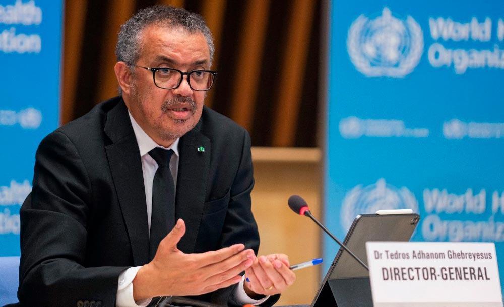 O diretor-geral da OMS Tedros Adhanom Ghebreyesus cobra distribuição igualitária de vacinas