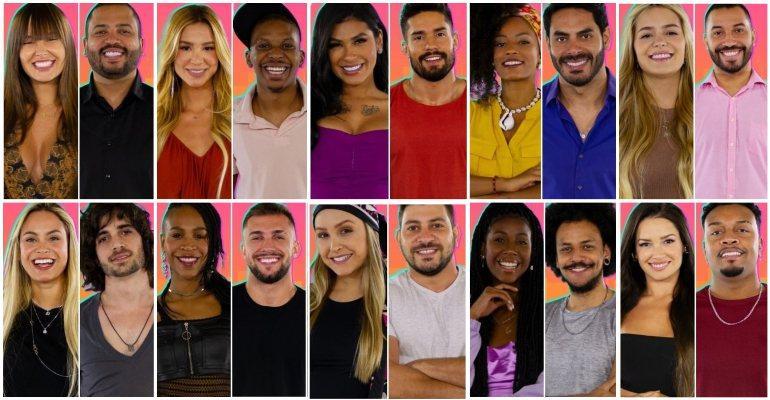 Os vinte participantes da 21ª edição do Big Brother Brasil