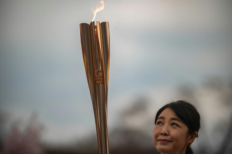 A tocha olímpica começou seu revezamento em 25 de março em Fukushima