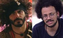 No último sábado (3), Rodolffo comparou o cabelo do concorrente João Luiz, que é negro, ao da peruca de monstro pré-histórico que teve de usar (Reprodução)