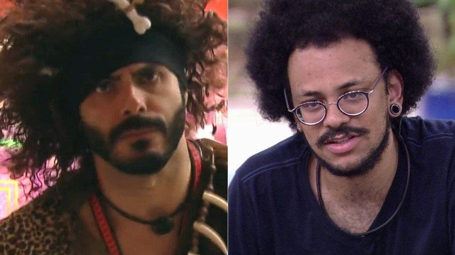 No último sábado (3), Rodolffo comparou o cabelo do concorrente João Luiz, que é negro, ao da peruca de monstro pré-histórico que teve de usar