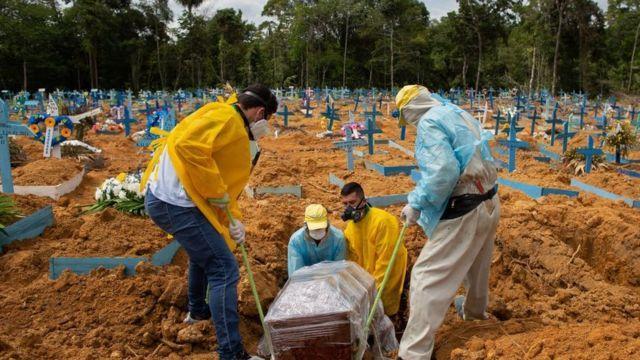 Brasil tem novo recorde de mortes em decorrência da Covid-19