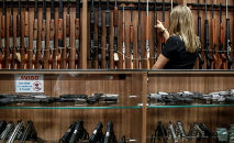 Loja de armas em São Paulo, em 15 de janeiro de 2019 (Miguel Schincariol/AFP)