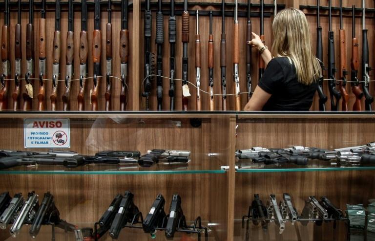 Loja de armas em São Paulo, em 15 de janeiro de 2019