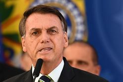 Presidente voltou a atacar um ministro do Supremo Tribunal Federal (Evaristo Sá/AFP)