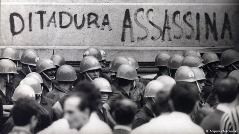 Protesto contra a ditadura militar em 1968