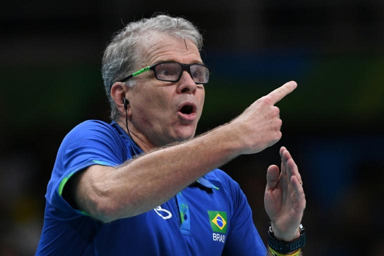 O técnico Bernardinho durante a final do vôlei masculino entre Brasil e Itália, nos Jogos Olímpicos de 2014