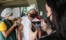 Vacinação de pessoasdo grupo prioritários em Manaus (João Viana / Secom)