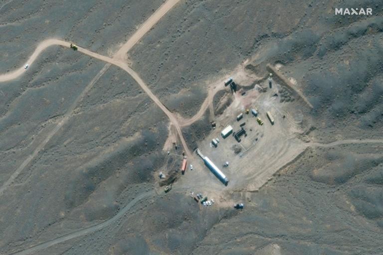 Vista aérea do complexo nuclear de Natanz, no centro do Irã, em 28 de janeiro de 2020, obtida  por Maxar Technologies