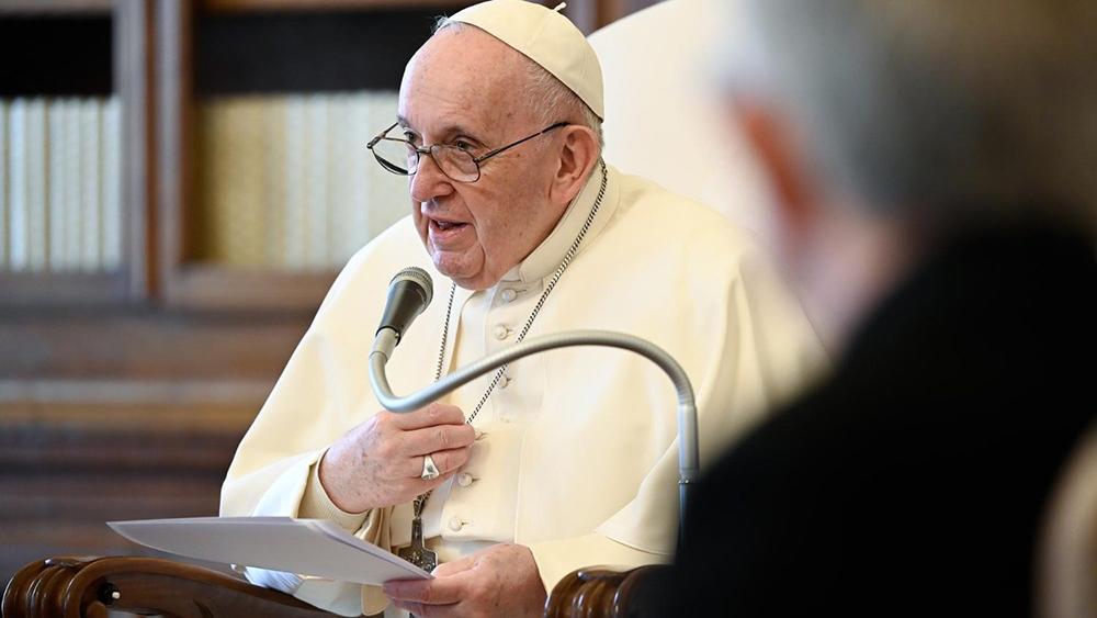 Papa Francisco durante a audiência do dia 14 de abril