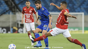 Matheus Barbosa marcou o gol da raposa no jogo (Gustavo Aleixo/ Cruzeiro)