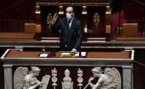 Primeiro-ministro francês, Jean Castex, na Assembleia Nacional Francesa em Paris, em 13 de abril de 2021 (Stephane de Sakutin/AFP)