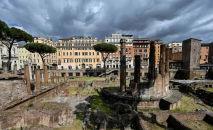 A chamada Area Sacra, no coração de Roma, vai virar um museu a céu aberto (Alberto Pizzoli/AFP)