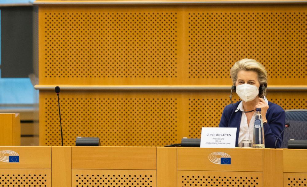 Presidente da Comissão Europeia Ursula Von Der Leyen