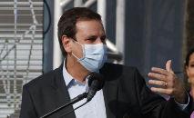 No seu perfil no Twitter, o prefeito postou um vídeo falando sobre a doença (Tânia Rêgo/ABr)