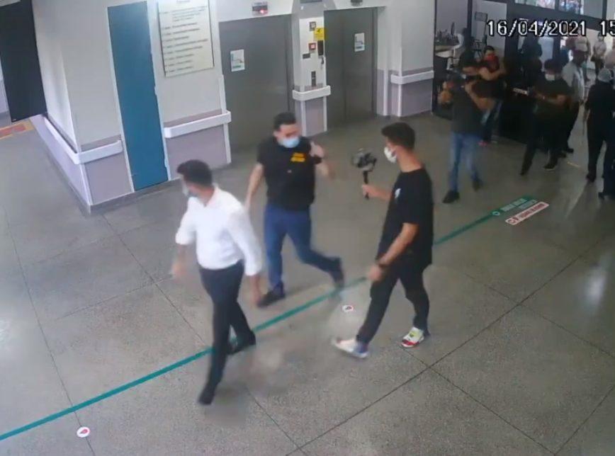 Imagens da câmera de segurança do Hospital Geral de Guarulhos