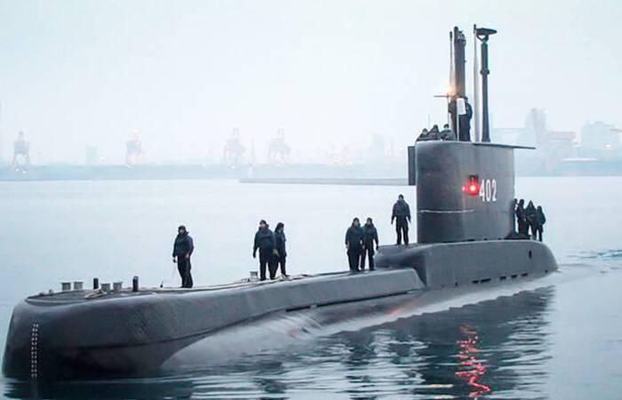 Imagem do submarino KRI Nanggala 402 antes de seu desaparecimento
