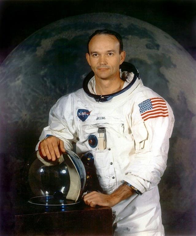 (Jul/1969) O astronauta americano Michael Collins, integrante da missão Apollo 11