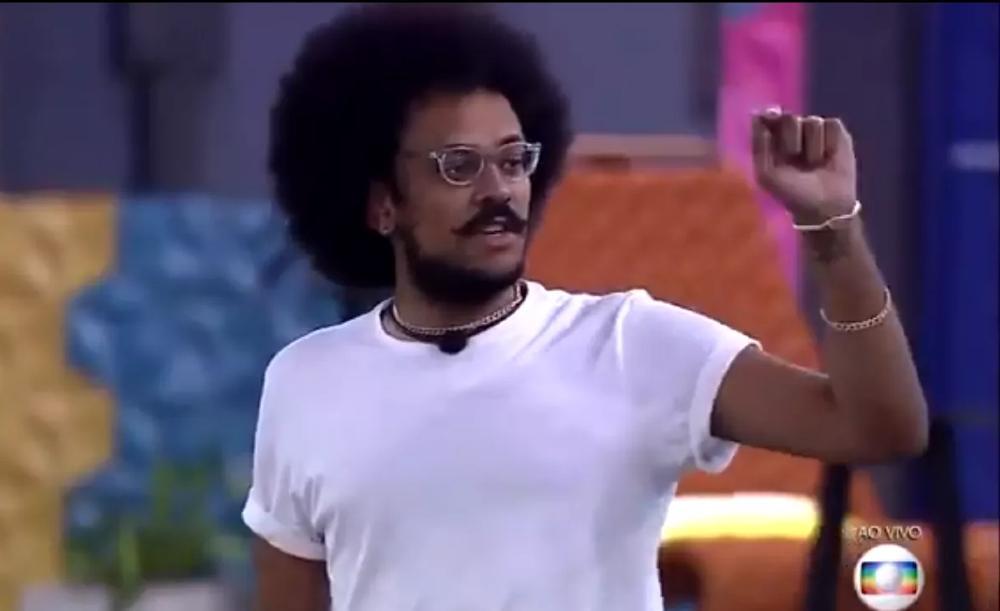 O professor João Luiz durante o Jogo da Discórdia da última segunda-feira (5)