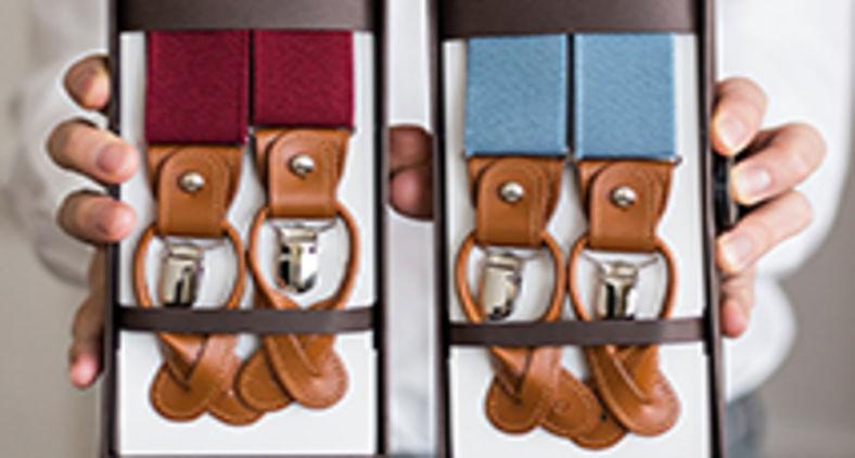 Suspensório deixou de ser apenas um suporte às calças dos barrigudos para tornar-se um componente da indumentária mais sofisticada, servindo democraticamente aos gordos e aos esguios (Unsplash/Peter Rerko)