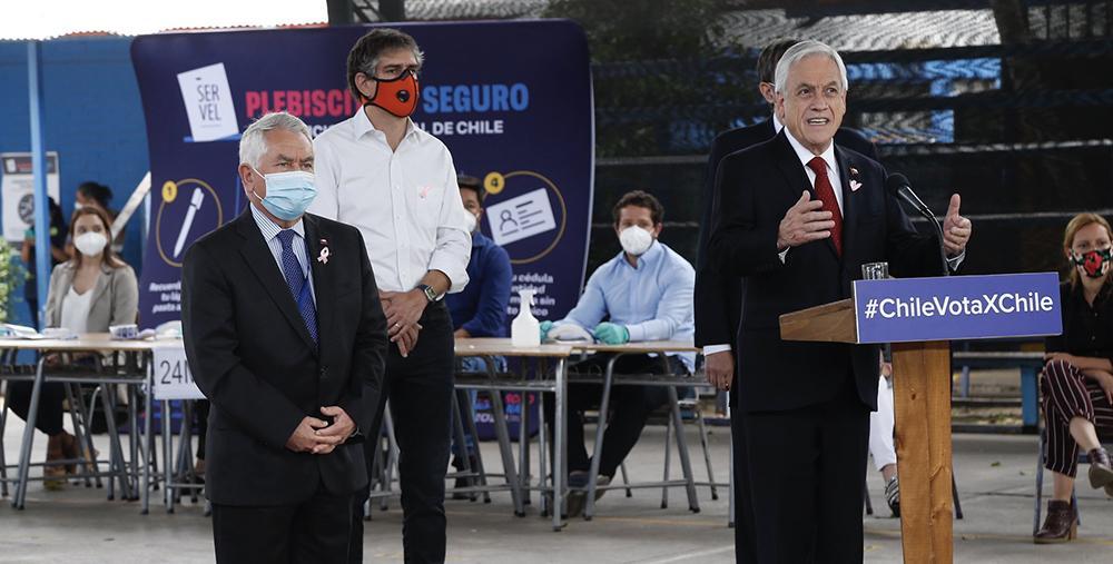 O presidente do Chile, Sebastian Piñera, em outubro de 2020