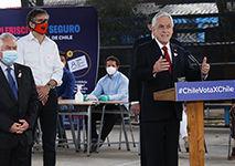 O presidente do Chile, Sebastian Piñera, em outubro de 2020 (David Lillo / Minsal)