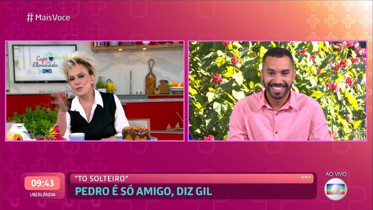 Após um primeiro momento de lágrimas, Gilberto já arrancou risadas de Ana Maria Braga ao dizer que está solteiro