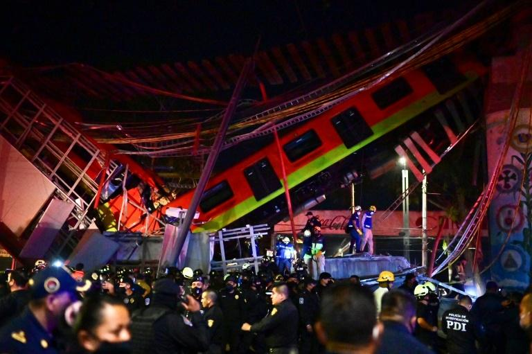 Trem do metrô da Cidade do México caiu após colapso de ponte