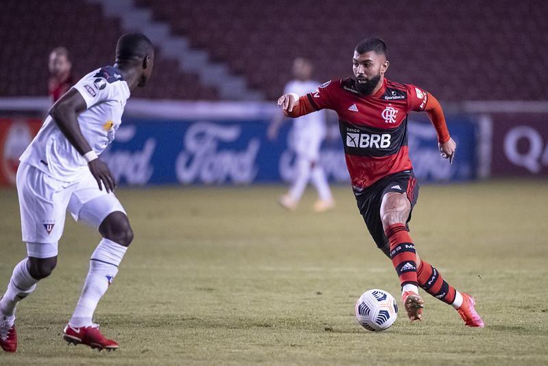 Jogo entre Flamengo e LDU pela Libertadores
