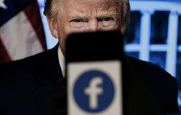 Um painel independente de supervisão do Facebook, que toma decisões vinculativas que não podem ser contestadas, decidiu sobre o veto de Donald Trump (Olivier Douliery/afp)