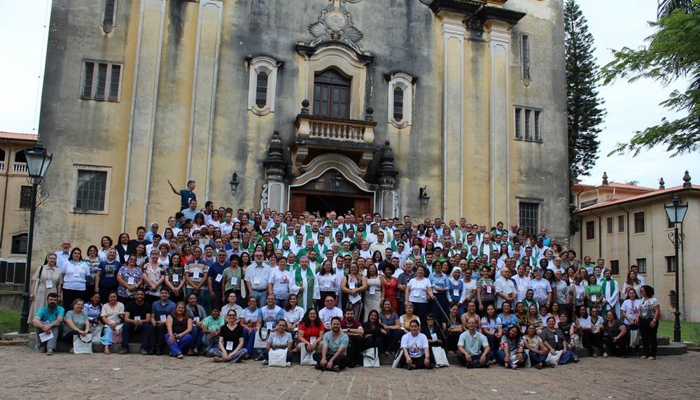 Participantes da 4ª Semana Brasileira de Catequese, em 2018, em Itaicí