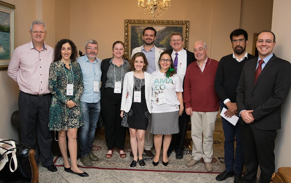 Professores, pesquisadores e convidados durante o V Congresso Internacional de Direito Ambiental e Desenvolvimento Sustentável, promovido pela Dom Helder em 2018.