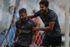 Sasha marcou o gol do Galo no empate com o Tombense (Pedro Souza / Atlético)