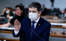 O senador Randolfe Rodrigues (Rede-AP), vice-presidente da CPI da Covid (Pedro França/Agência Senado)