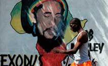 A lenda do reggae Bob Marley se apresenta com The Wailers em Dublin, em 1980 (Wikicommons)