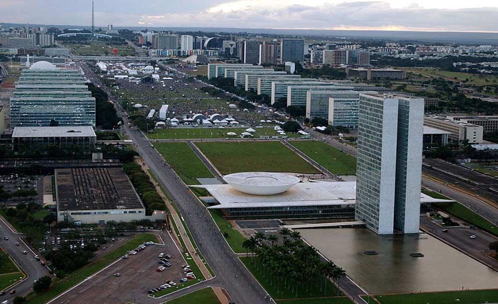 Congresso Nacional e Esplanada dos Ministérios, em Brasília